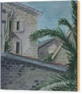 Budva Old Town Wood Print