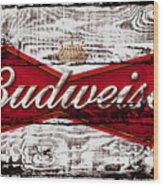 Budweiser Wood Art 5a Wood Print