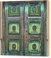 Buenos Aires Church Crypt Door Wood Print