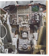 Buff Cockpit Wood Print