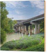 Buffalo Bayou Houston Wood Print