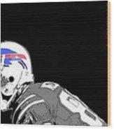 Buffalo Bills Football Team And Original Typography Wood Print