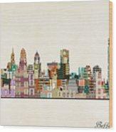 Buffalo City New York Wood Print