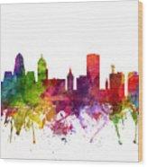 Buffalo Cityscape 06 Wood Print