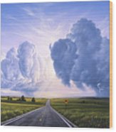 Buffalo Crossing Wood Print by Jerry LoFaro