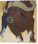 Buffalo Fury Wood Print