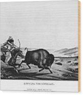 Buffalo Hunt, 1837 Wood Print