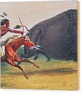 Buffalo Hunt, C1832 Wood Print