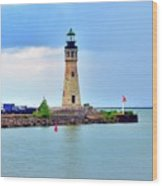 Buffalo Lighthouse Wood Print by Kathleen Struckle