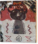 Buffalo Man Wood Print