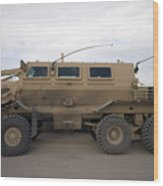 Buffalo Mine Protected Vehicle Wood Print by Terry Moore