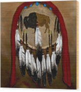 Buffalo Shield Wood Print