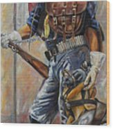 Buffalo Soldier Outfitted Wood Print by Harvie Brown