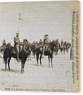Buffalo Soldiers Of The Ninth U.s Wood Print by Everett