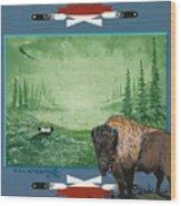 Buffalo Spirit Wood Print