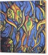 Buffalo Spirits Wood Print by John Benko