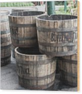 Buffalo Trace Barrels Wood Print