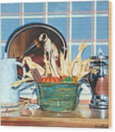 Buffet Still Life Wood Print