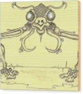 Bug One Wood Print