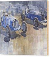 Bugatti 51 Alfa Romeo 8c 1933 Monaco Gp Wood Print