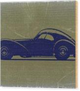 Bugatti 57 S Atlantic Wood Print by Naxart Studio