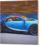 Bugatti Chiron 3 Wood Print