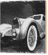 Bugatti Type 57 Aerolithe Wood Print