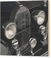 Bugatti Type 57 In Black Wood Print