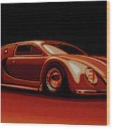 Bugatti Veyron 'beetgatti' 1945 Painting Wood Print