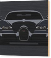 Bugatti Veyron Dark Wood Print by Michael Tompsett