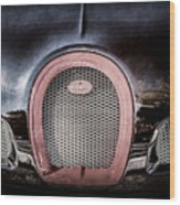 Bugatti Veyron Legend Grille Emblem -0488ac Wood Print