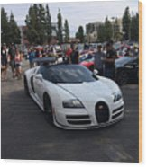 Bugatti Veyron Wood Print
