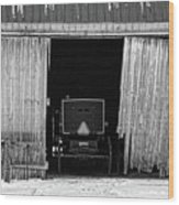 Buggy In The Barn Wood Print
