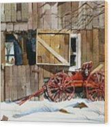 Buggy 'n Barn Wood Print