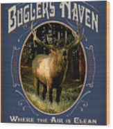 Buglers Haven Sign Wood Print by JQ Licensing