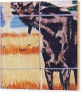 Bugling Moose Wood Print by Dy Witt