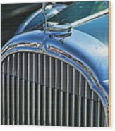 Buick Grill And Hood Ornament Wood Print