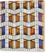 Building Abstract IIid Wood Print