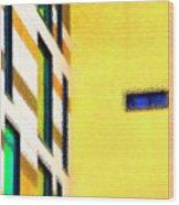 Building Block - Yellow Wood Print