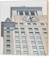 Building Closeup In Manhattan 11 Wood Print