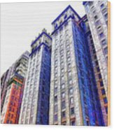 Building Closeup In Manhattan 15 Wood Print