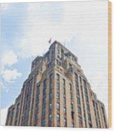Building Closeup In Manhattan 2 Wood Print
