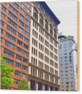 Building Closeup In Manhattan 5 Wood Print