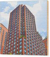Building Closeup In Manhattan 6 Wood Print