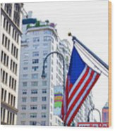 Building Closeup In Manhattan 9 Wood Print