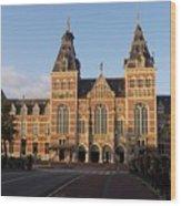 Building Exterior Of Rijksmuseum. Amsterdam. Holland Wood Print