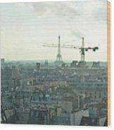 Building Paris Wood Print