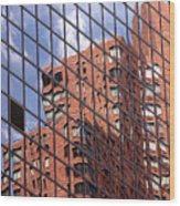 Building Reflection Wood Print