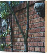 Building Walls Wood Print