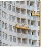 Building Workers Wood Print